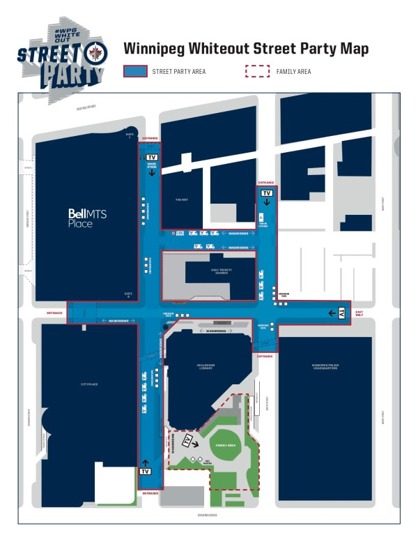 Winnipeg Whiteout Street Party Map