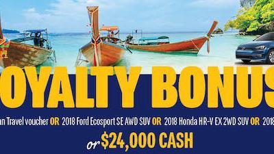 Tri-Hospital Dream Lottery Loyalty Bonus Deadline at Midnight