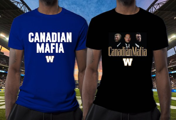 Canadian Mafia T-Shirts - Winnipeg Blue Bombers