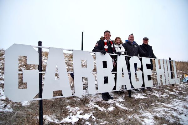 Garbage Hill Sign