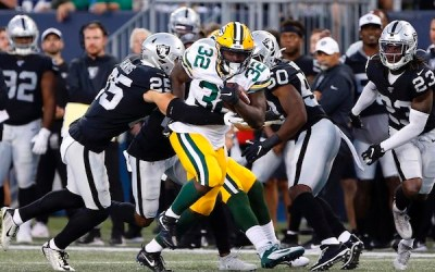 Raiders Beat Packers in Winnipeg on Reconfigured 80-Yard Field