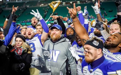 Blue Bombers Bound for Grey Cup, Beat Roughriders 20-13 in West final