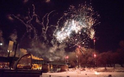 Two Fireworks Shows, William Prince at The Forks for New Year's Eve