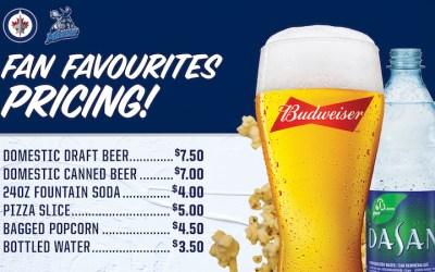 True North Slashing Concession Prices at Jets, Moose Games