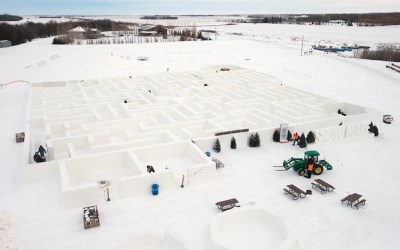 Manitoba's Record-Breaking Snow Maze Captures Winter's Whimsical Charm