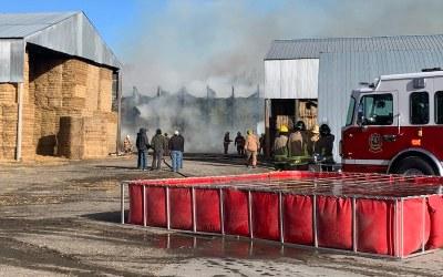 Fire on Manitoba Farm Destroys 15,000 Hay Bales