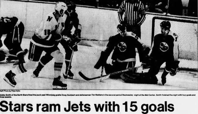 Winnipeg Jets - Minnesota North Stars