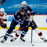 Stastny, Scheifele and Wheeler Have Three-Point Nights in 6-3 Jets Win Over Senators