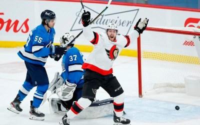Tkachuk Scores Winner as Ottawa Senators Claim Close 2-1 Victory Over Winnipeg Jets