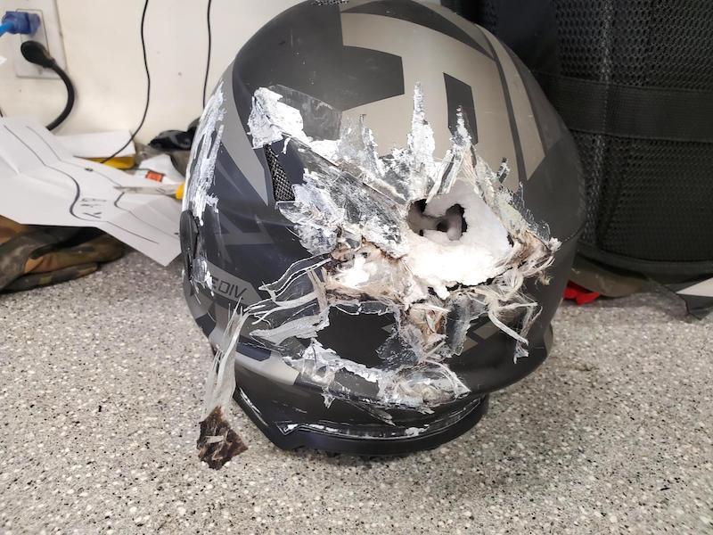 Snowmobile Equipment Crash
