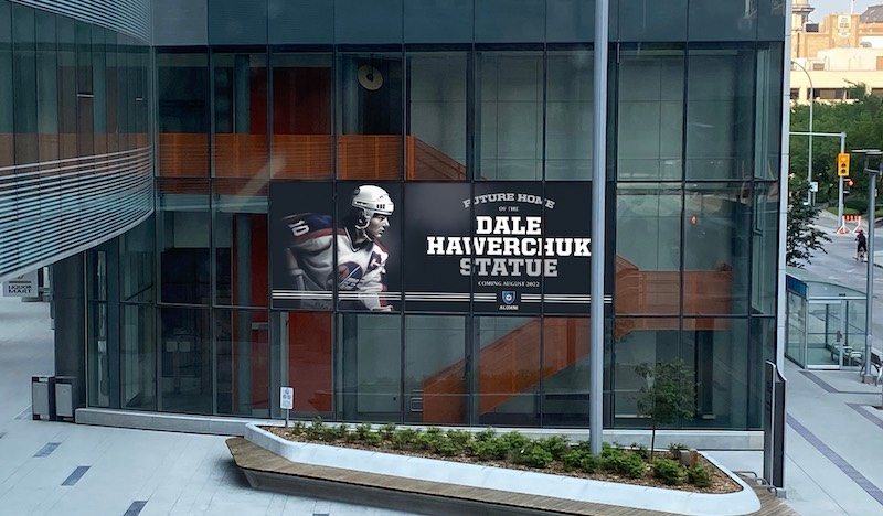 Dale Hawerchuk Statue Placement