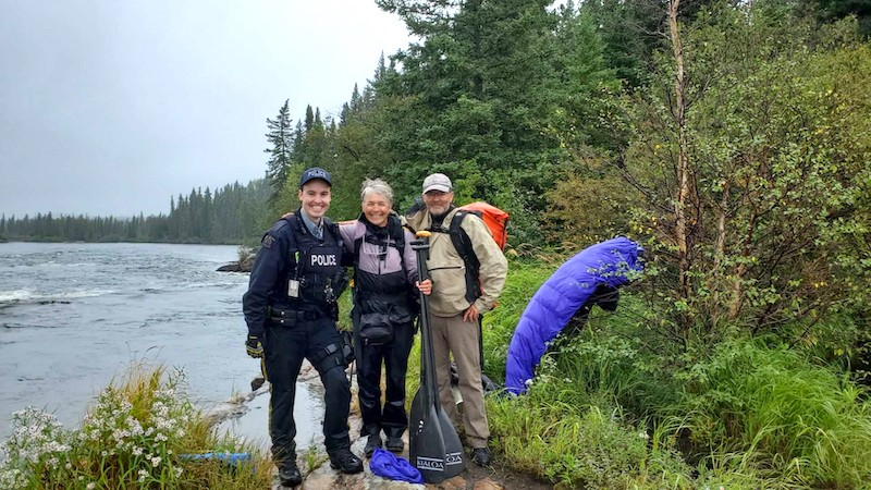 Rescued Canoeists