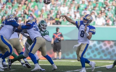 Bombers Defence Shuts Down Riders in 23-8 Win, Forces 3 Interceptions from Fajardo