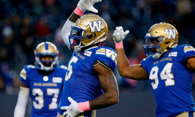 Bombers Trounce Lions 45-0 for 8th Straight Win, Clinch 1st Place in West Division