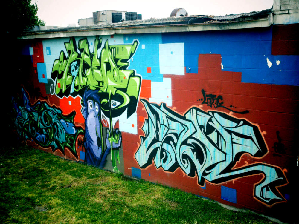 Grape Gorilla Graffiti Mural