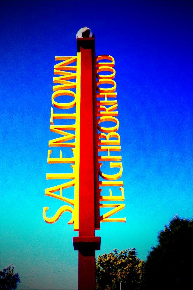 Salemtown Neighborhood Sign