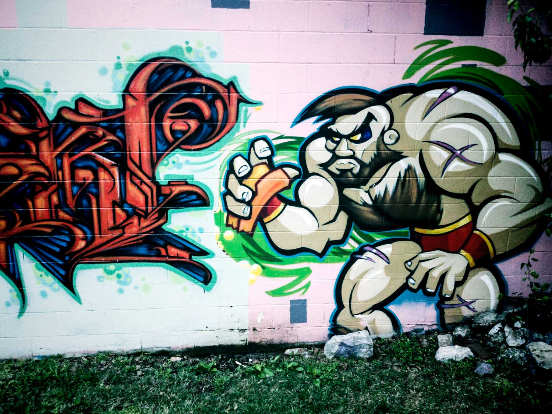 Street Fighter Graffiti Nashville Mural