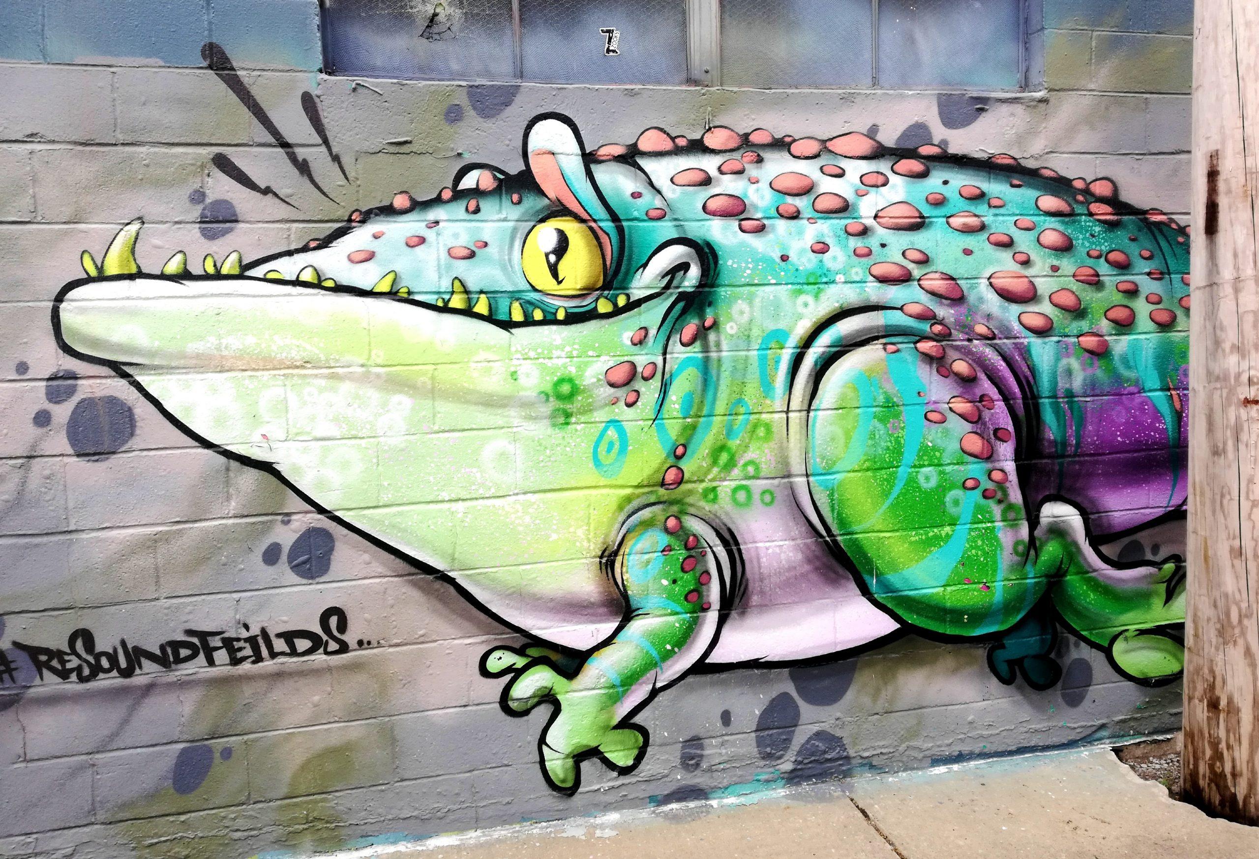 Alligator Graffiti Kansas City Street Art KCMO