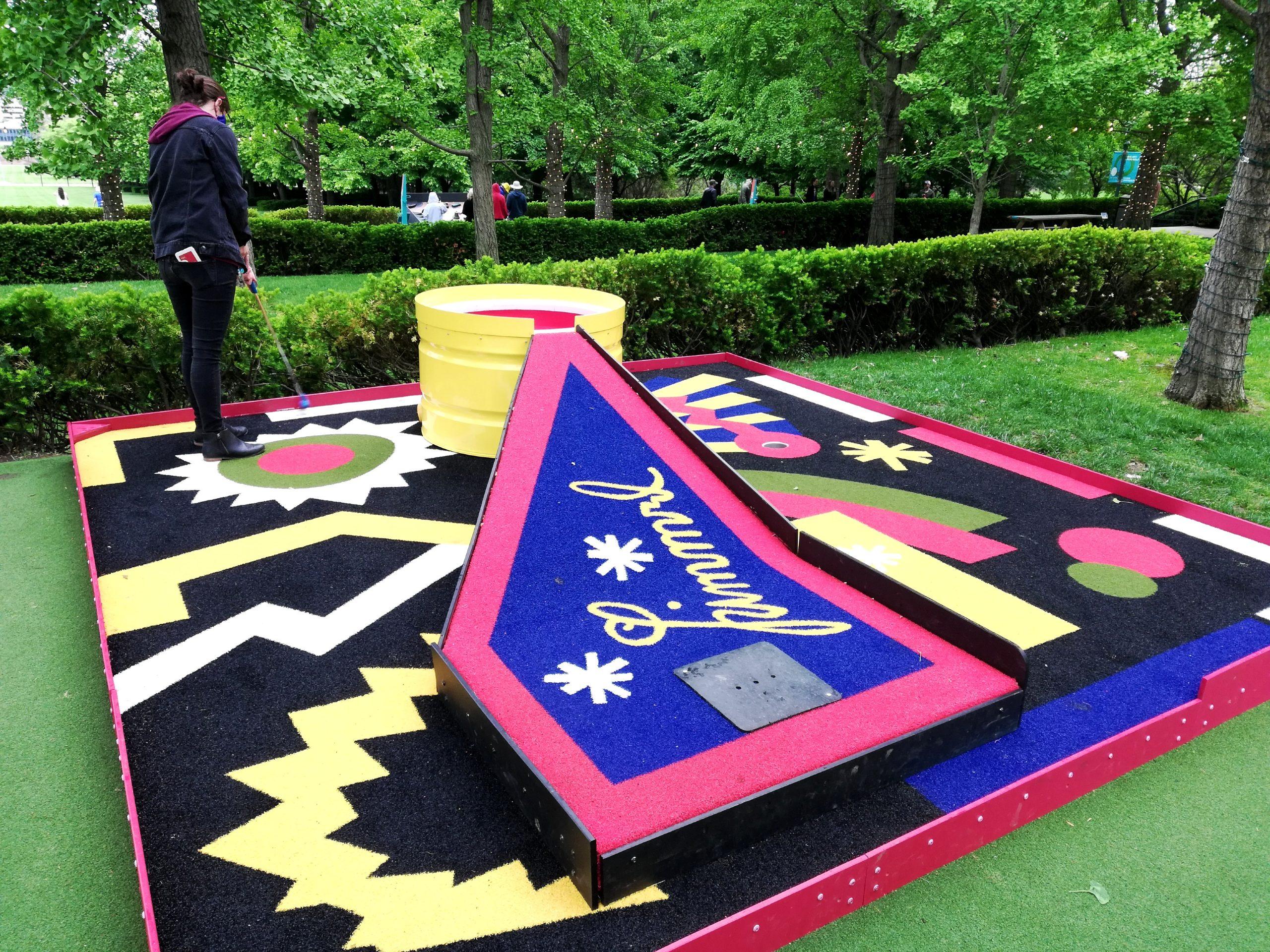 Art Course Nelson-Atkins Museum of Art Kansas City KCMO Mini Golf Heaven Putt Hell