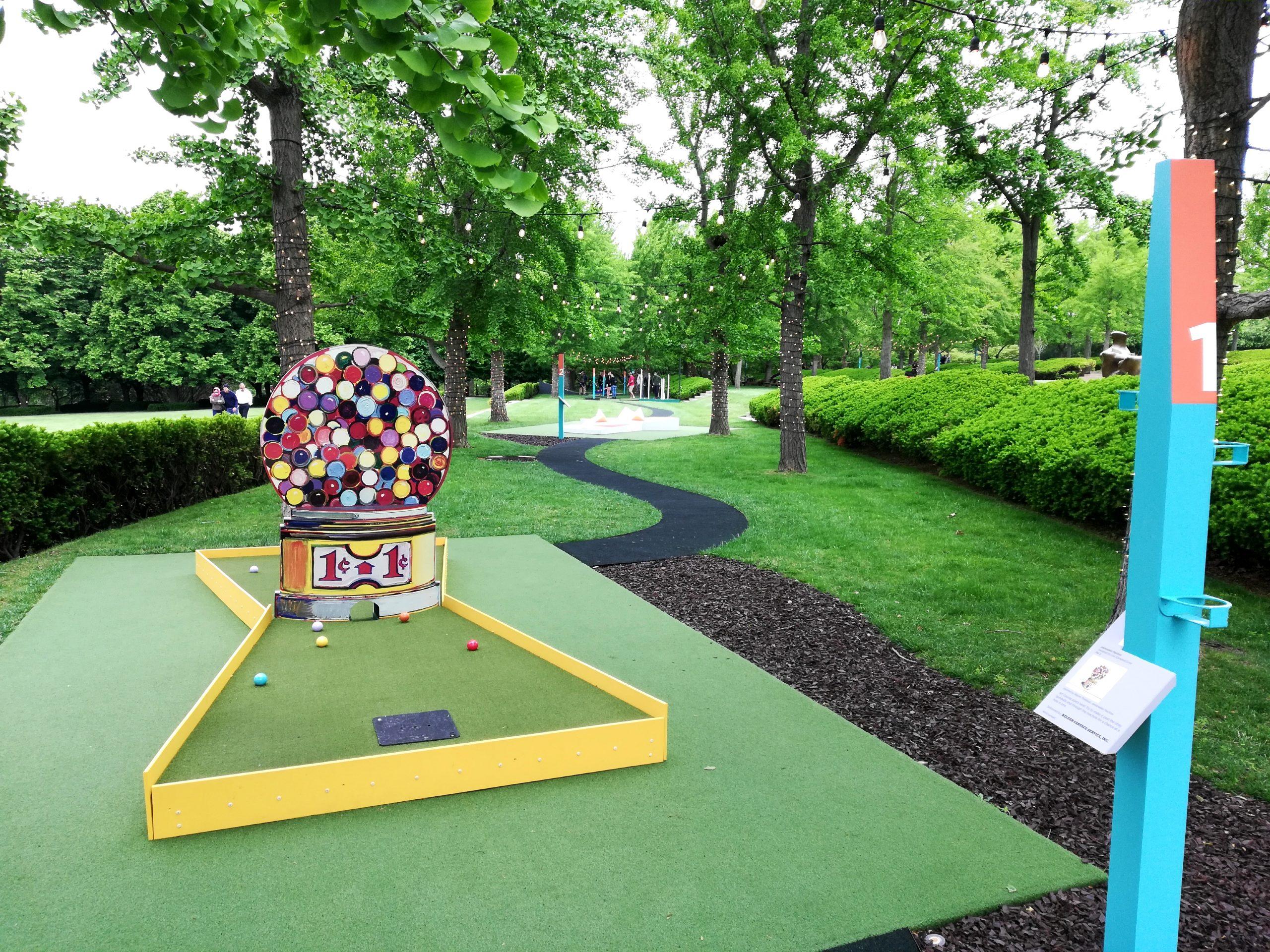 Art Course Nelson-Atkins Museum of Art Kansas City KCMO Mini Golf Jawbreaker Machine