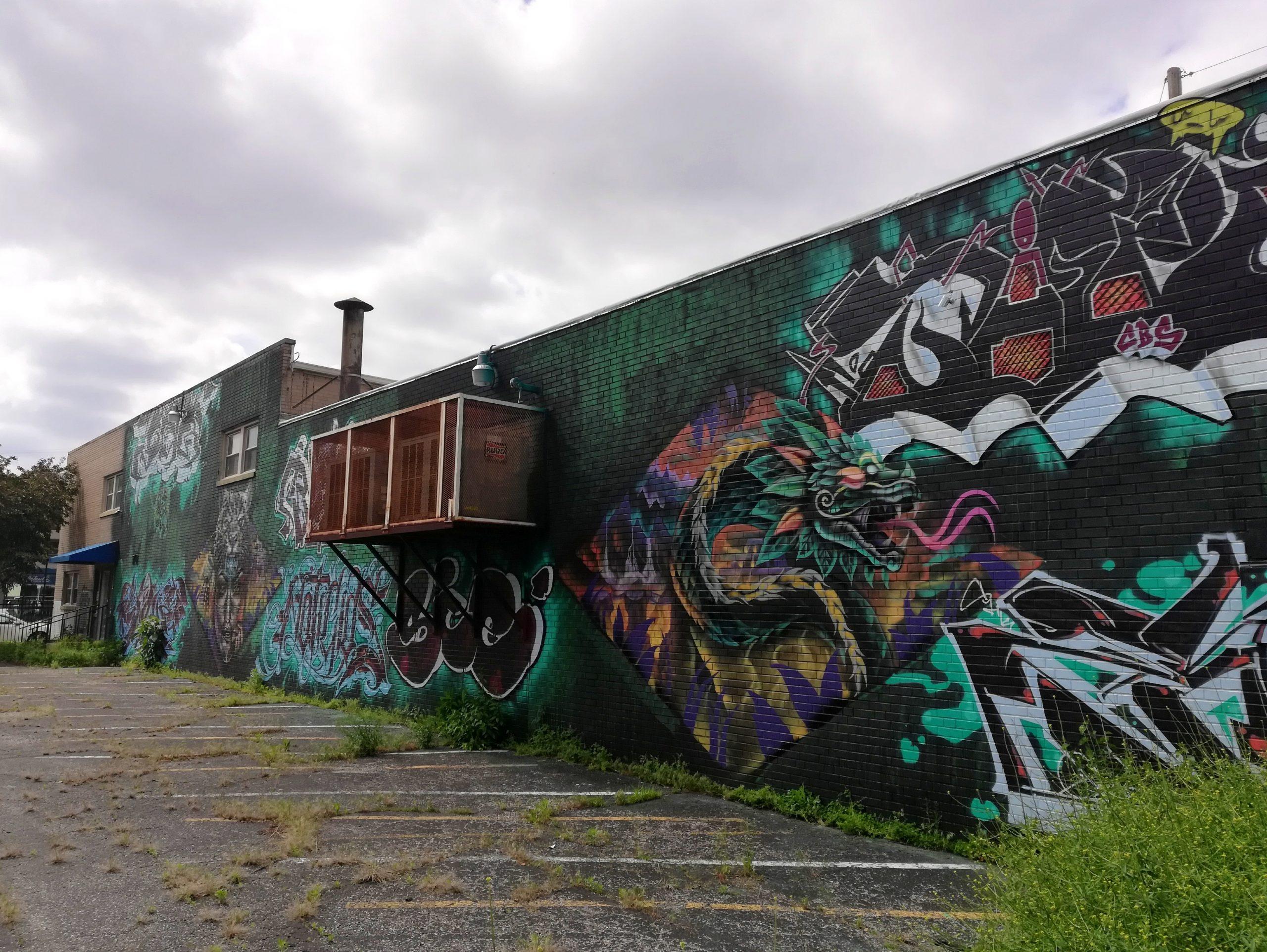 Dragon Graffiti Kansas City Street Art KCMO