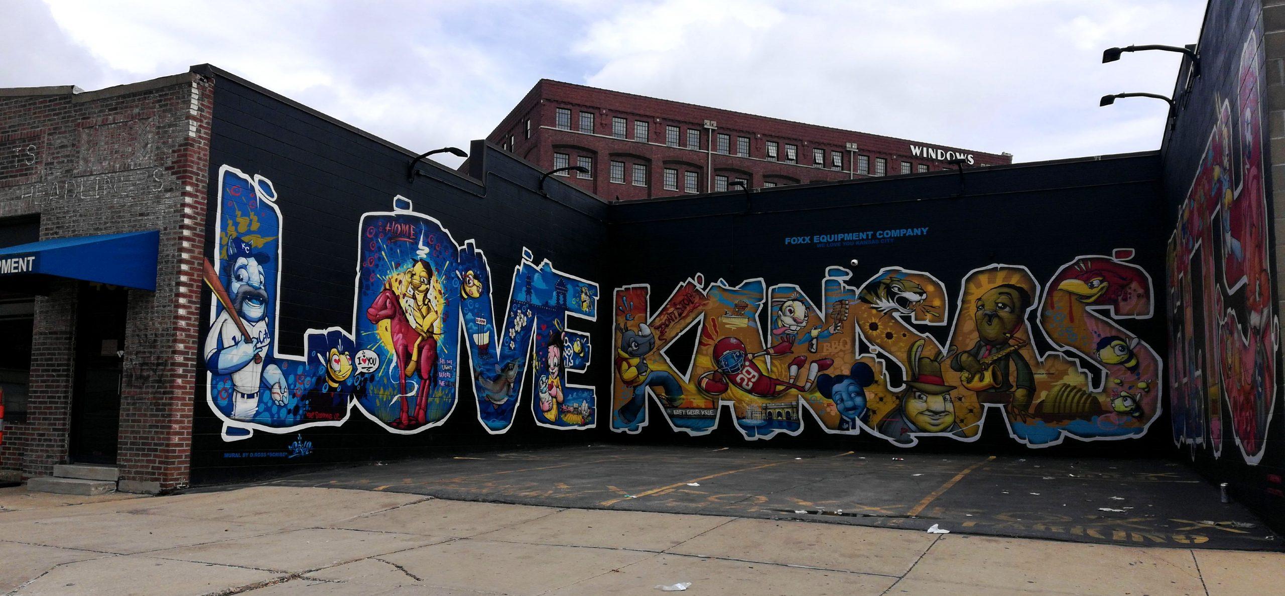 Love Kansas City Street Art Graffiti KCMO