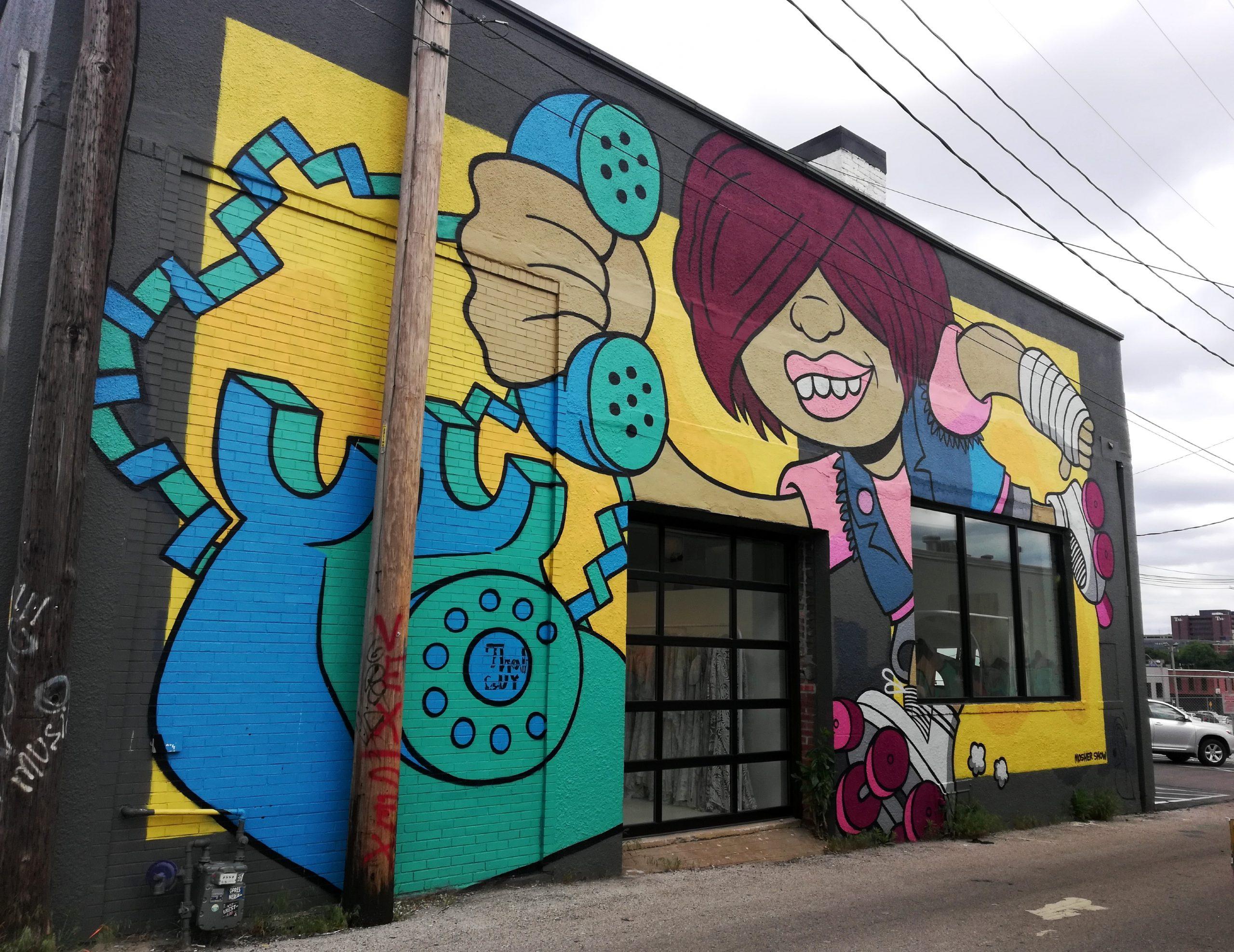 Telephone Graffiti Kansas City Street Art KCMO