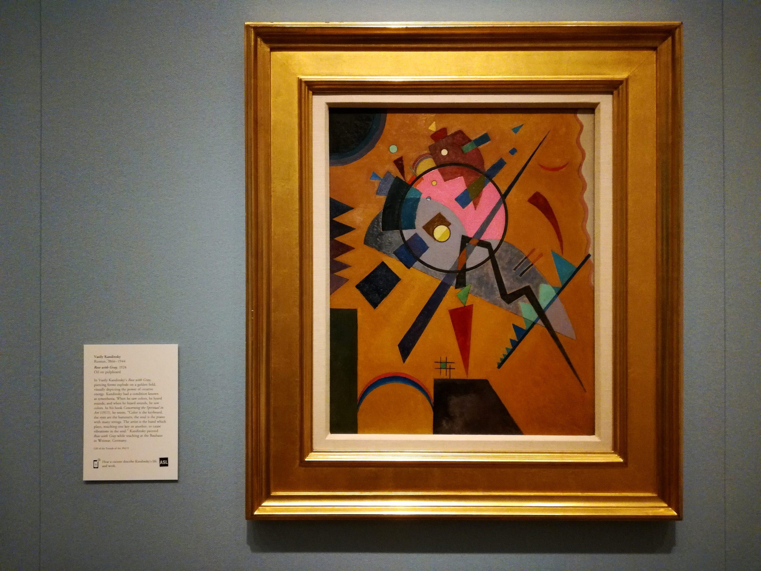Wassily Vasily Kandinsky Rose with Gray Nelson-Atkins Museum of Art Kansas City KCMO