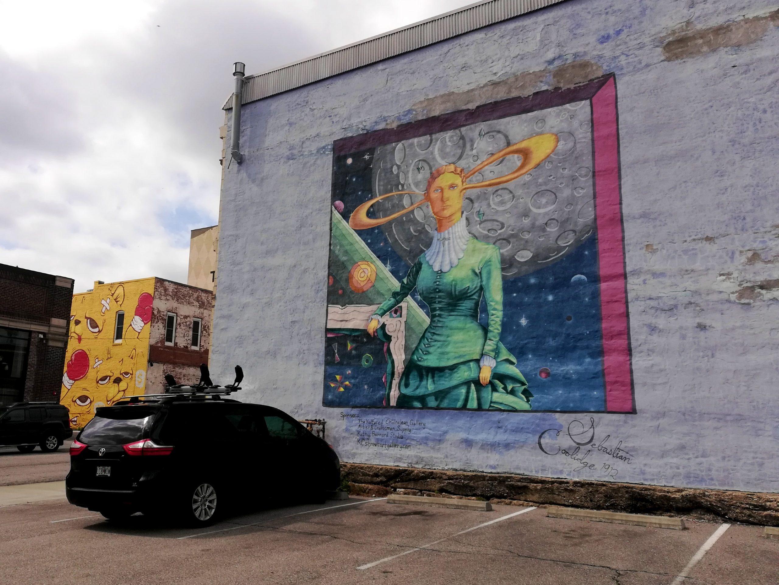 Weird Ear Graffiti Kansas City Street Art KCMO