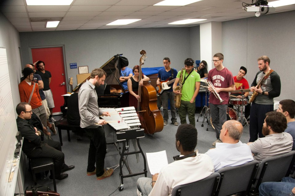 Leading a Master Class at Miami-Dade College