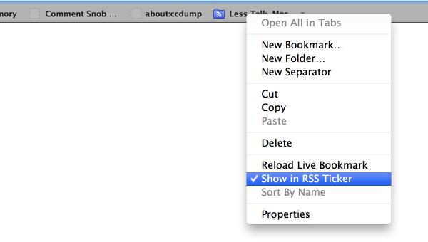 Show a feed in RSS Ticker