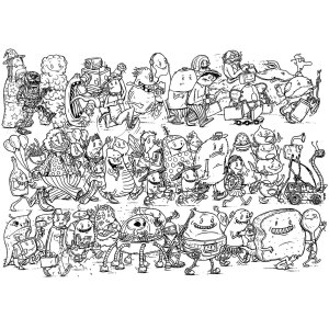 Characters white