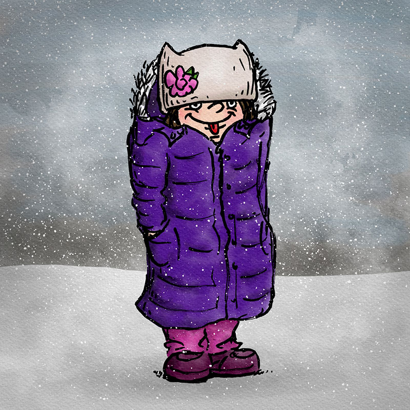 Girl in Snow