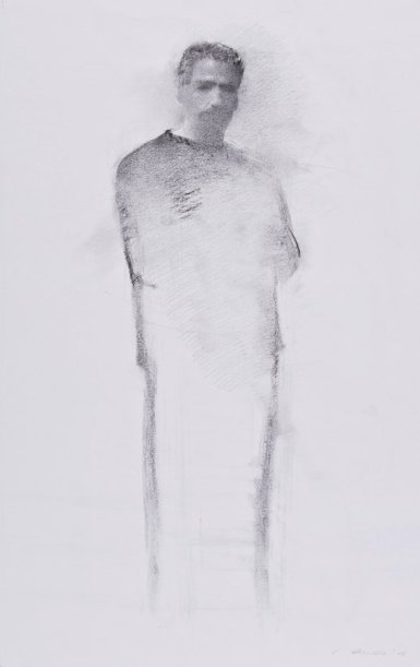 Christopher Gallego, American, b. 1959, 2008, Charcoal and graphite on paper, 21 1/8 x 13 1/4 in., Sold