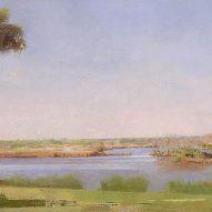 Christopher Gallego, American b. 1959, Lake Clara, Richmond Hill GA, 2014, Oil on canvas, 24 x 40 in., Sold
