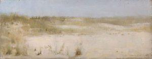 Christopher Gallego, American b. 1959, Beach Grasses # 2, Oil on board 2006