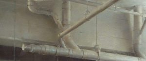 Christopher Gallego, Ceiling Pipes, detail, Oil Painting on Canvas