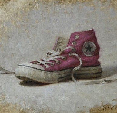 Christopher Gallego Blog   Featured Artist: Grace Mehan Devito   Image: Pink Converse