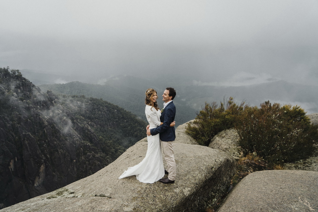 Victorian high country wedding photography at the top of Mt Buffalo