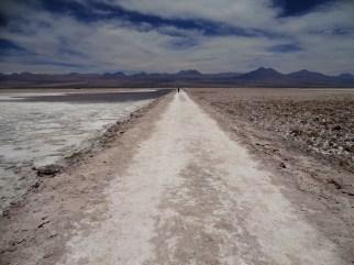 Salt path on the Salar de Atacama