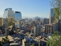 The Santiago cityscape