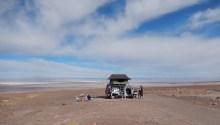 Our camping spot overlooking the Salar de Atacama