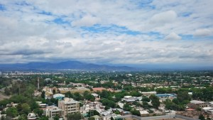 View across Mendoza from the hotel