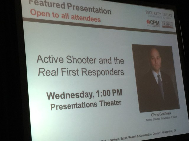 Homeland Security Today Conference KeyNote Speaker Active Shooter Expert Chris Grollnek