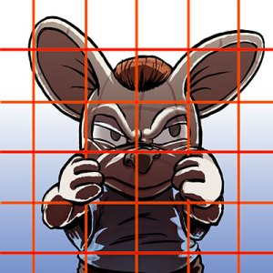 Mouse in Image Transferring Grid Avatar