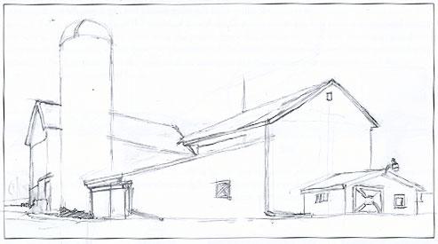 Final barn drawing.
