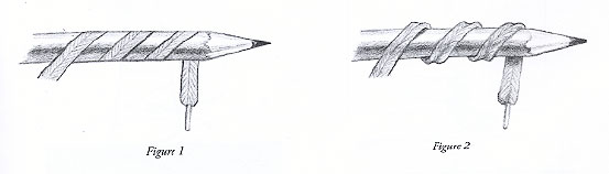 Two examples of depth using a pencil.