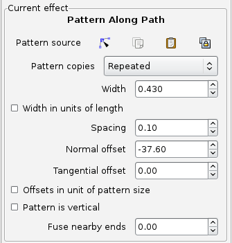 Settings for my second pattern