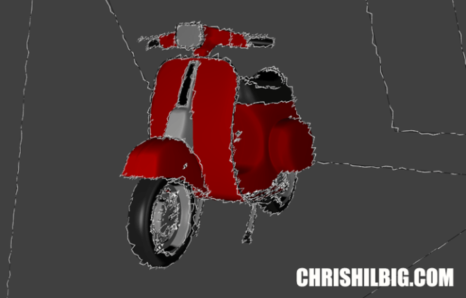 A similar render of scooter in freestyle by chris hilbig