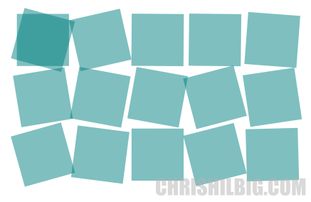 Squares rotated in inkscape via the Create Tile Clones window using the Randomize option
